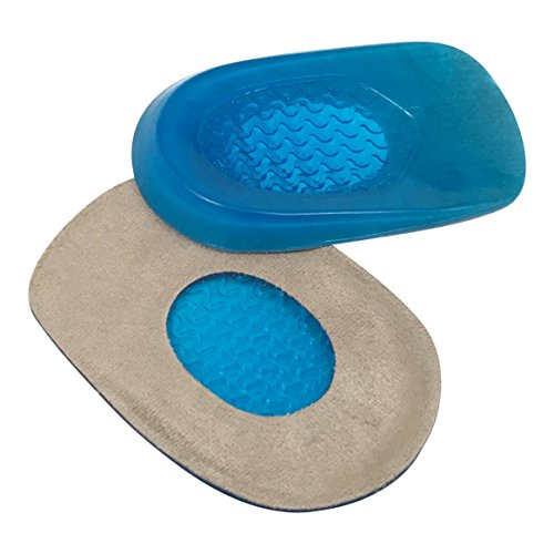 Hyjinx Gel Heel Cups (Pair) - Best Shoe Inserts for Heel Spurs - Massaging Cushions Provide Foot Relief - Arch Support & Relieving Sore Plantar Fascia Pain - Shock Absorbing for Running (Best Tennis Shoes For Bone Spurs)
