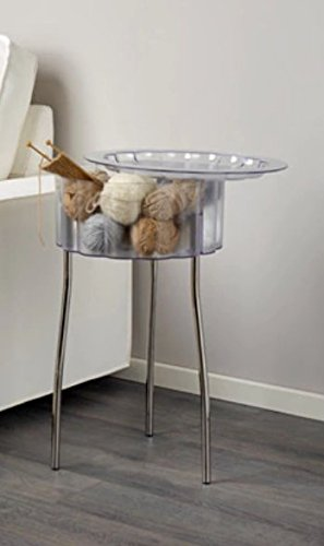 Ikea Hatten – Mesa Auxiliar, Transparente – 40 cm