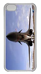 Customized iphone 5C PC Transparent Case - War Airplane 5 Personalized Cover