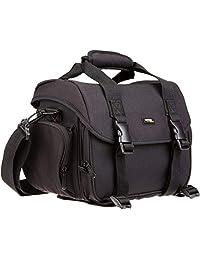 AmazonBasics Large DSLR Gadget Bag (Orange interior), Interior anaranjado, Negro, Mediano