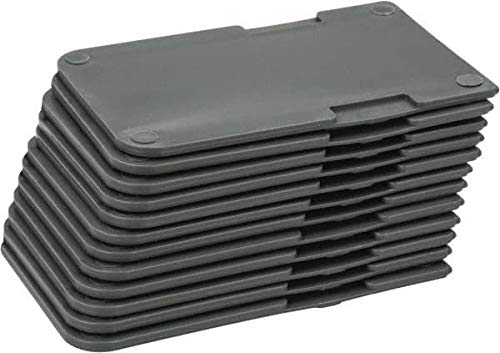 Durham - 3'' High Gray Bin Divider for Use with 099-95 - 12/Case (15 Cases)