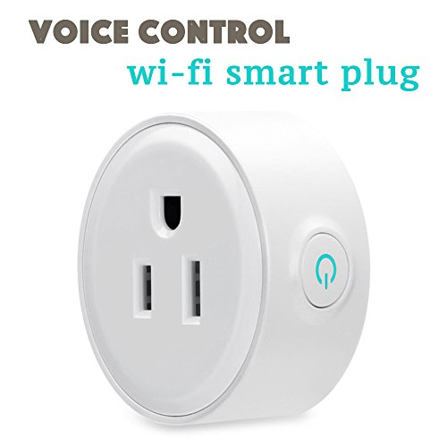 Smart Plug Outlet,LUCKY CLOVER Mini Socket,Wireless Outlet Wi-Fi Smart Timing Socket,Control your Devices from Anywhere,Compatible with Alexa,Google Home and IFTTT(LC1002) -  LC-P1002