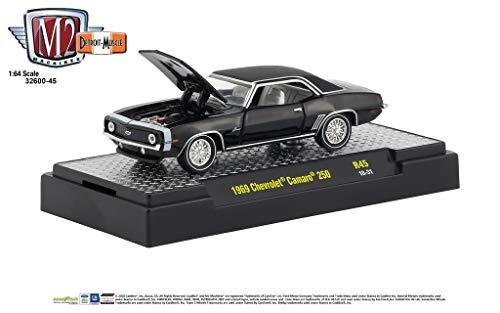 M2 Machines 1:64 Detroit Muscle Release 45 1969 Chevrolet Camaro 250 Black