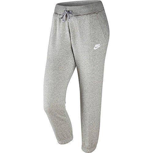 Nike Fleece Capris Womens Style: Grey/white 803646-063 Size: M by NIKE