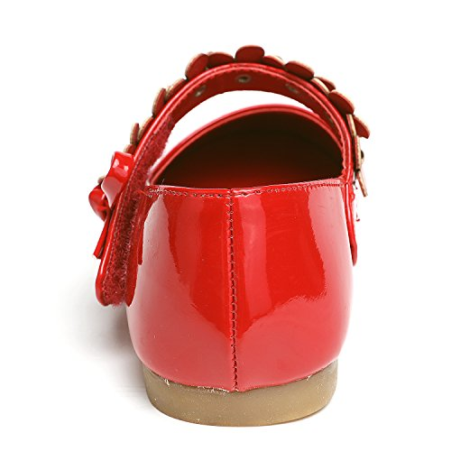 397b4734833fc UBELLA Girls Flower Mary Jane Shoes Ballet Flats Wedding Dress Shoes ...
