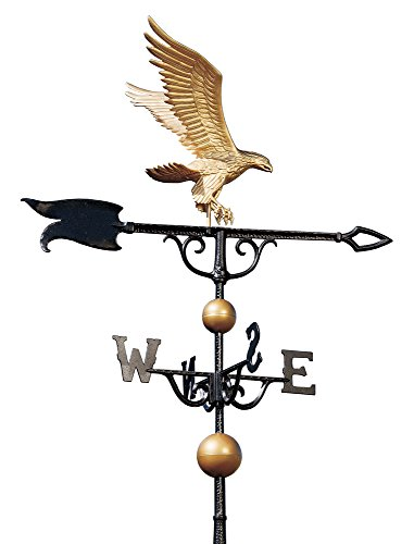 Whitehall Products Traditional Directions - Whitehall Products Eagle Weathervane, 46-Inch, Gold/Bronze