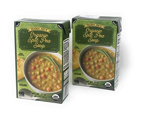 - Trader Joe's Organic Split Pea Soup - NET WT 17OZ - Vegan - 2 PACK