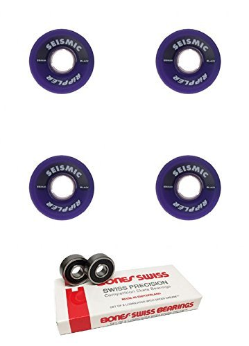 59 mm seismicスケートシステムRippler Longboard Skateboard Wheels with Bones Bearings – 8 mm Bones Swiss Skateboard Bearings – 2アイテムのバンドル   B06X92BJVK