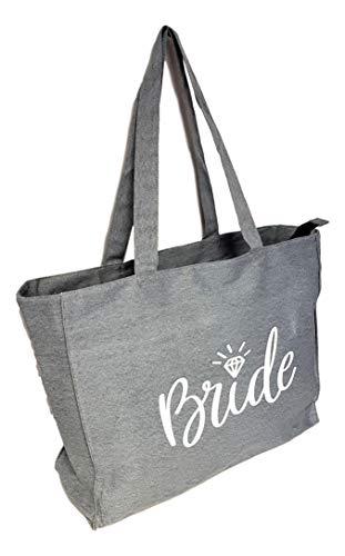 Bride XX Large Tote Bag Heavy Duty Cotton Twill (Denim Gray)