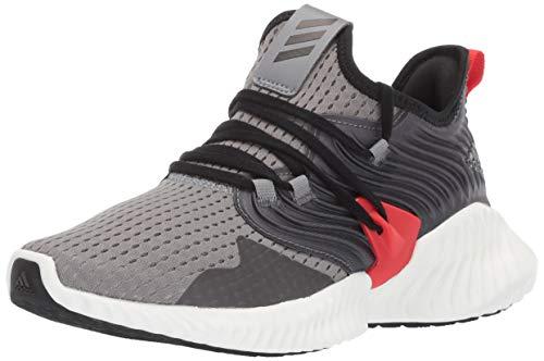 Adidas Kids Alphabounce Instinct, Grey/Black/Active red, 7 M US Big Kid