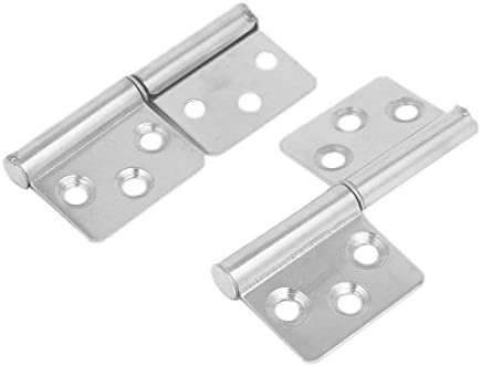 LICTOP Two Leaves Flag Hinge Lift Off Detachable Stainless Steel Hinges 3-inch,4 Pcs