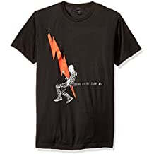 FEA Men's Queens of The Stone Age Man with Lightning Bolt T-Shirt