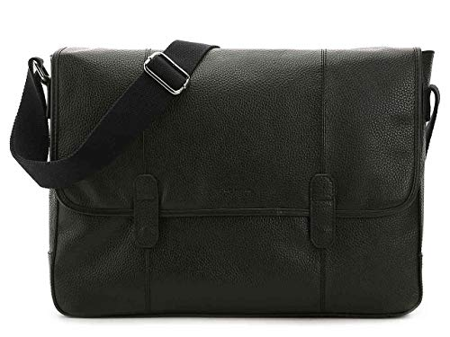 - Cole Haan Pebble Leather Wayland Messenger Bag, Black, O/S