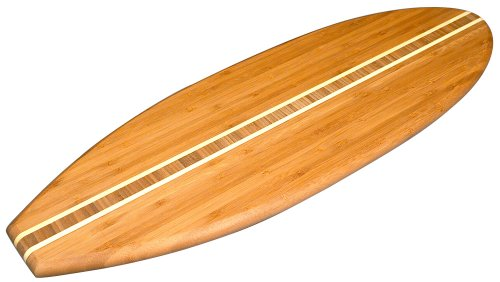 Totally Bamboo Lil' Surfer Shaped Serving Board