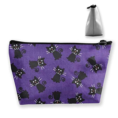 Double Y Halloween Fabric Cat Women Cosmetic Bags