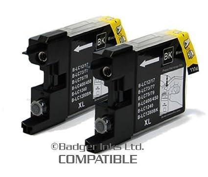 Brother MFC J5910DW paquete doble cartuchos de tinta negra LC1280 ...