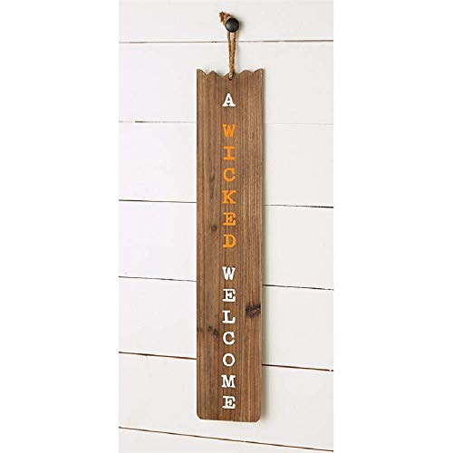 Mud Pie Fall Reversible Decorative Sign, 33-inch x 6-inch]()