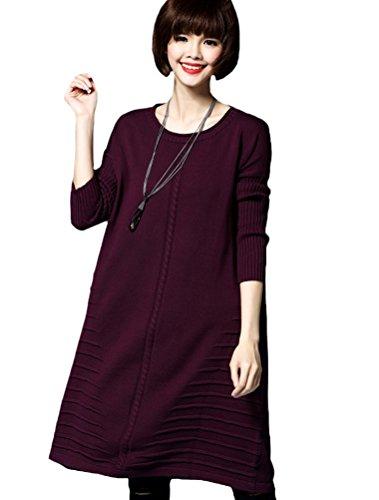 MatchLife - Jerséi - para mujer Style5-Purple Red(Fit UK 4-14)