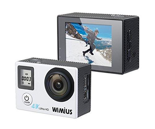 WIMIUS Q4 wifi 4K@30FPS ウェアラブルカメラ 2 0インチ+0 66インチ 16MP 40m防水 予備バッテリー アドベンチャー (シルバー)の商品画像