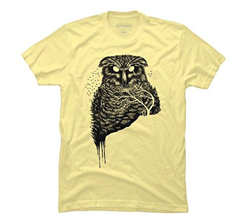 Autumn Owl Men's Small Banana Cream Graphic T Shirt - Design By Humans