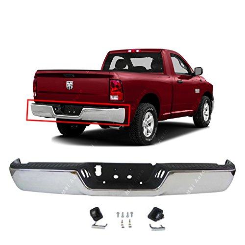 MBI AUTO - Steel Chrome, Rear Step Bumper Assembly for 2009-2018 Dodge RAM 1500, CH1103117