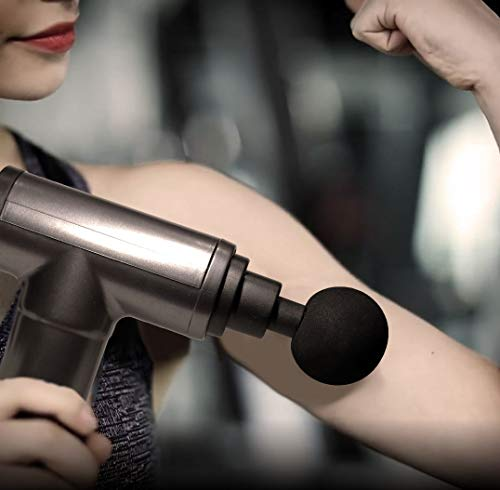 Fascia Gun,Deep Tissue Percussion Electric Handheld Muscle Massager, Muscle and Tissue Pain with 4 Speeds Level with 4 Replaceable Massage Heads