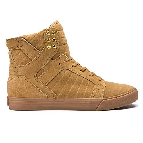 Supra Men's Skytop Shoes,9,Tan/Light Gum ()