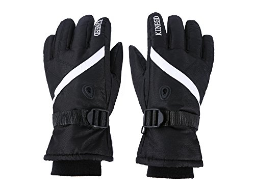 Ski Gloves Snow Gloves for Men and Women with Wrist Guard Waterproof Windproof Warm-fit for Snowboard Skiing Snowmobile Winter Gloves(Black)