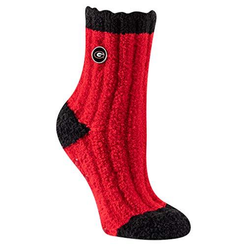 TCK Brands Warm & Fuzzy, Soft & Chunky, Super Plush University of Georgia Bulldogs Cozy Socks