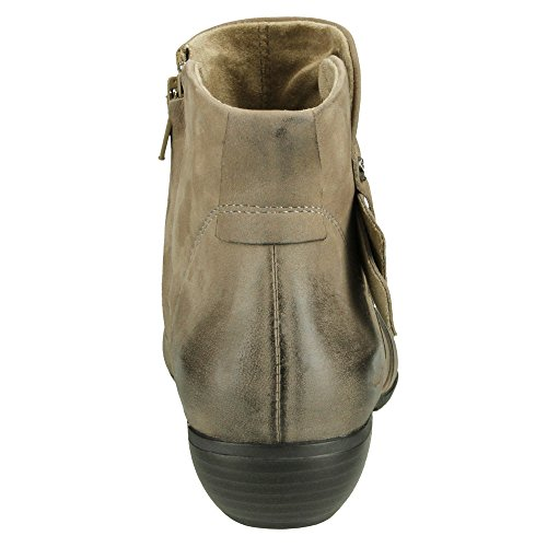 US Leather Women's Oiled Full Taos Leather Ankle Grain Taupe Footwear Model Boot qwAS70Px