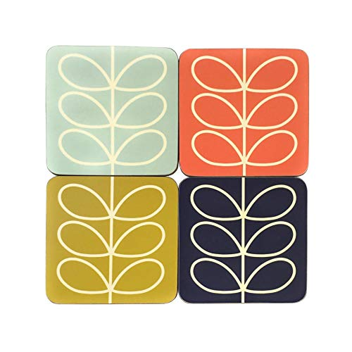 - OFFICIAL LICENSED ORLA KIELY LINEAR STEM LEAF COASTERS PRESENT GIFT BOXED X 8