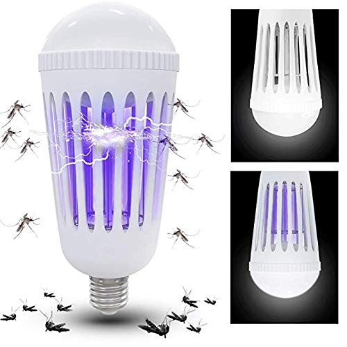 Athemo Bug Zapper Light Bulb, Mosquito Killer Lamp, UV LED Electronic Insect & Fly Killer for Indoor Outdoor Porch Patio Backyard