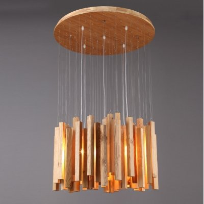 Wooden Stick Pendant Light in US - 4