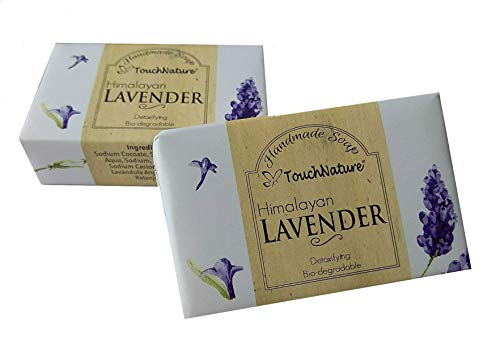 (Touch Nature 2 pc 100g Lavender Natural Handmade Soap. Lavender Bar & Castile Soap, No Sulphates, No Parabens. Gentle and Natural. Moisturizing. Aloe Vera Added. Perfect Gift for women and Girls.)