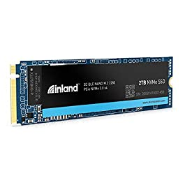 Inland Platinum 2TB SSD NVMe PCIe Gen 3.0×4 M.2 2280 3D NAND Internal Solid State Drive, PCIe Express 3.1 and NVMe 1.3…