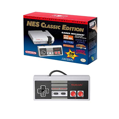 (Nintendo NES System Classic Edition W/ 30 Pre-Loaded Games and Extra Controller)