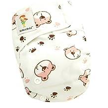 Kawaii Baby Newborn Reusable Cloth Diaper Pure & Natural 6 - 22 Lb. With 2 Microfiber Inserts Bears by Kawaii Baby