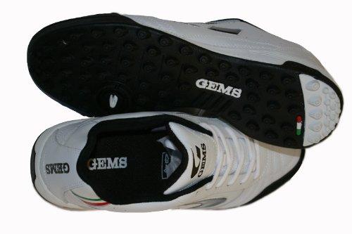 GEMS , Chaussures pour homme spécial foot en salle Multicolore White- Black 41