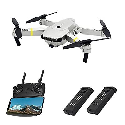 Drones with Camera Live Video, Global Drone GD88 PRO, 720P 120° Wide-Angle HD Camera, Foldable Wi-fi FPV Quadcopter with 2 Batteries, Drone for Beginners, Easy to Operate from Globalwin Toys