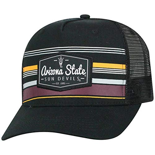 Top of the World Arizona State Sun Devils Adult NCAA Route Trucker Snapback Hat - Team Color, Adjustable