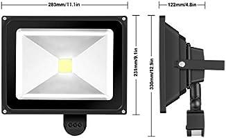 GREESUN 50W Foco LED con Sensor Movimiento de alto brillo 4500LM ...