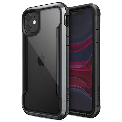 X-Doria Defense Shield, iPhone 11 Case - Military Grade Drop Tested, Anodized Aluminum, TPU, and Polycarbonate Protective Case for Apple iPhone 11, (Black)