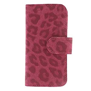 Leopard Print Clamshell Full Body Case with Card Slot and Stand for iPhone 5/5S (Assorted Colors) --- COLOR:White