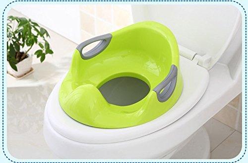 バスルームアクセサリー M と F 1ピース 色 グリーン ベビー トイレ シート プラスチック シンプル ベビー ポータブル Pee 幼児 子供 トイレ シート リング 安全 トイレ シート 女の子用 男の子 トレーナー ポット   B07D6K6K8H