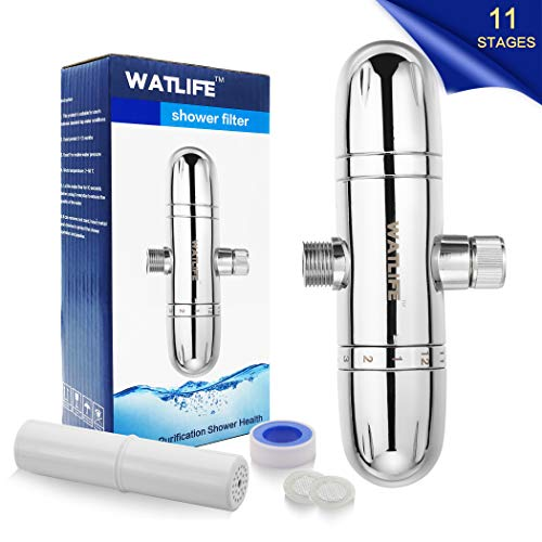 Purchase WATLIFE 11 Stage Shower Filter for Hard Water, Universal Shower Head Filters High Output Re...