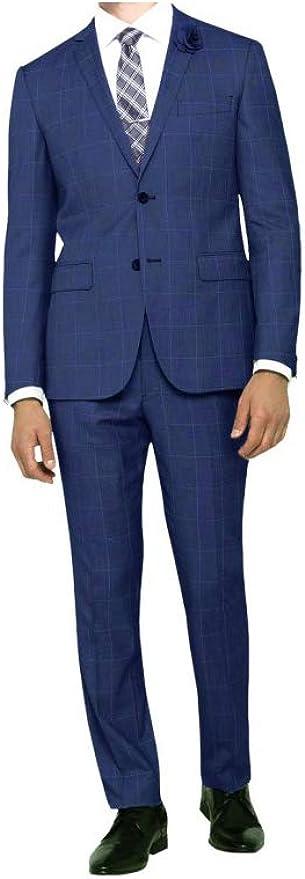 PUNTO-SHOPPING Abito Uomo Sartoriale Classico Drop 6 Blu Principe di Galles della Nuova Collezione TG.52