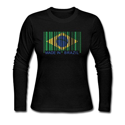 Made In Brazil Autumn Custom Women's Funny Long Sleeve Tee - Shipping Usps Brazil