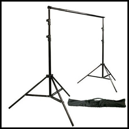 GTAPhotoStudio Premium 10ft (H) x 12ft (W) Telescopic 1-Piece CrossBar Backdrop Stand Set