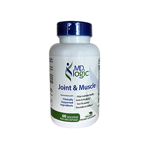 Joint Muscle Supplement Collagen Turmeric Curcumin Boswellia Gluten Free 60 Vegetarian Non-GMO Capsules
