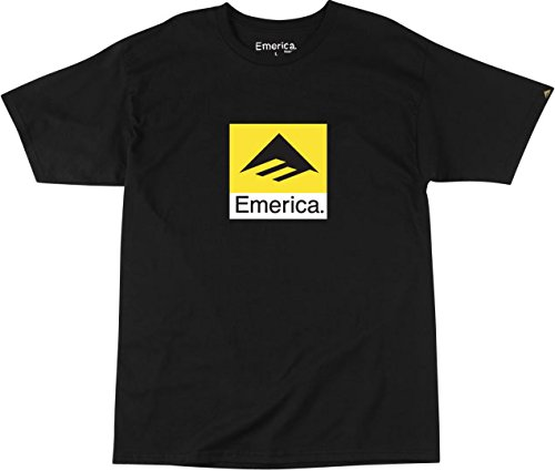 Emerica Men's Combo 10 - Short Sleeve T-Shirt, Black/White, Small ()